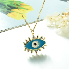 Stainless Steel Chain and Brass Pendant Necklace TTTN-0186
