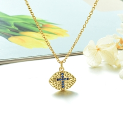 Stainless Steel Chain and Brass Pendant Necklace TTTN-0157B