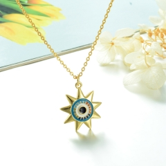 Stainless Steel Chain and Brass Pendant Necklace TTTN-0185