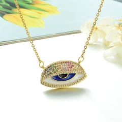 Stainless Steel Chain and Brass Pendant Necklace TTTN-0182