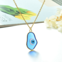 Stainless Steel Chain and Brass Pendant Necklace TTTN-0163B