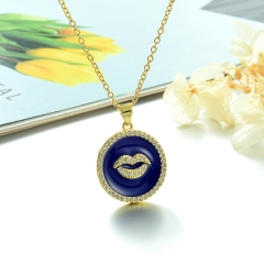 Stainless Steel Chain and Brass Pendant Necklace TTTN-0191