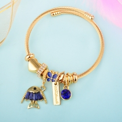 Stainless Steel Bracelet With Alloy Charms BS-1841B