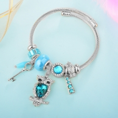 Stainless Steel Bracelet With Alloy Charms BS-1837A