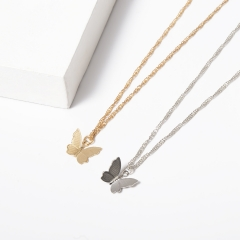 stainless steel cheap butterfly necklace    XXXN-0017