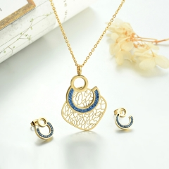 Stainless steel necklace set for women STAO-3848D