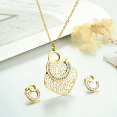 Stainless steel necklace set for women STAO-3848A