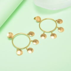 stainless steel gold plated Hoop earrings jewelry for women  XXXE-0276