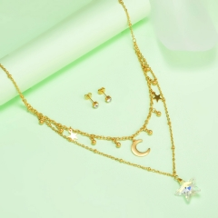 new stainless steel women gold jewelry set  XXXS-0436