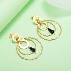 stainless steel gold plated Hoop earrings jewelry for women  XXXE-0241