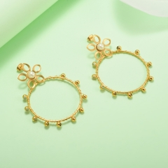 stainless steel gold plated Hoop earrings jewelry for women  XXXE-0298
