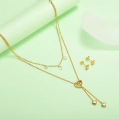 new stainless steel women gold jewelry set  XXXS-0438