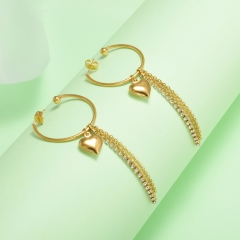 stainless steel gold plated Hoop earrings jewelry for women  XXXE-0240