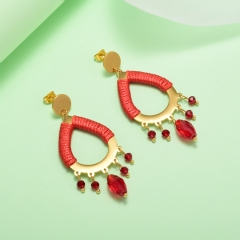 stainless steel gold plated Hoop earrings jewelry for women  XXXE-0239