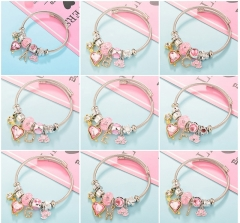 Stainless Steel Bracelet With Alloy Charms BS-1791A