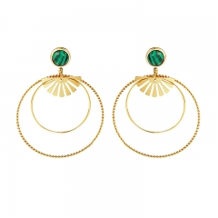 Stainless Steel Round Shape Vintage Earring ES-1998